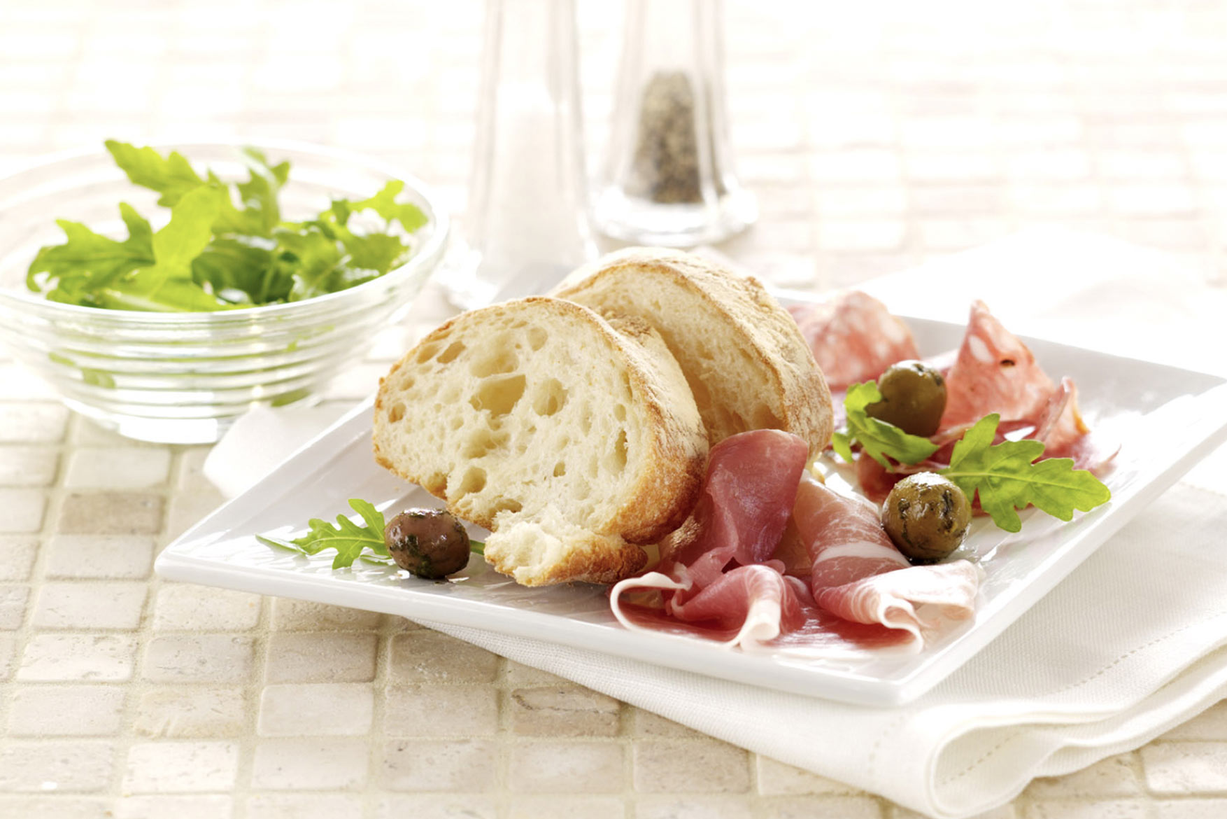Food Packaging photography of cold cut meats for ASDA